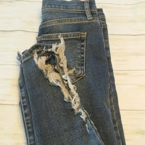 Free People distressed jeans size 24